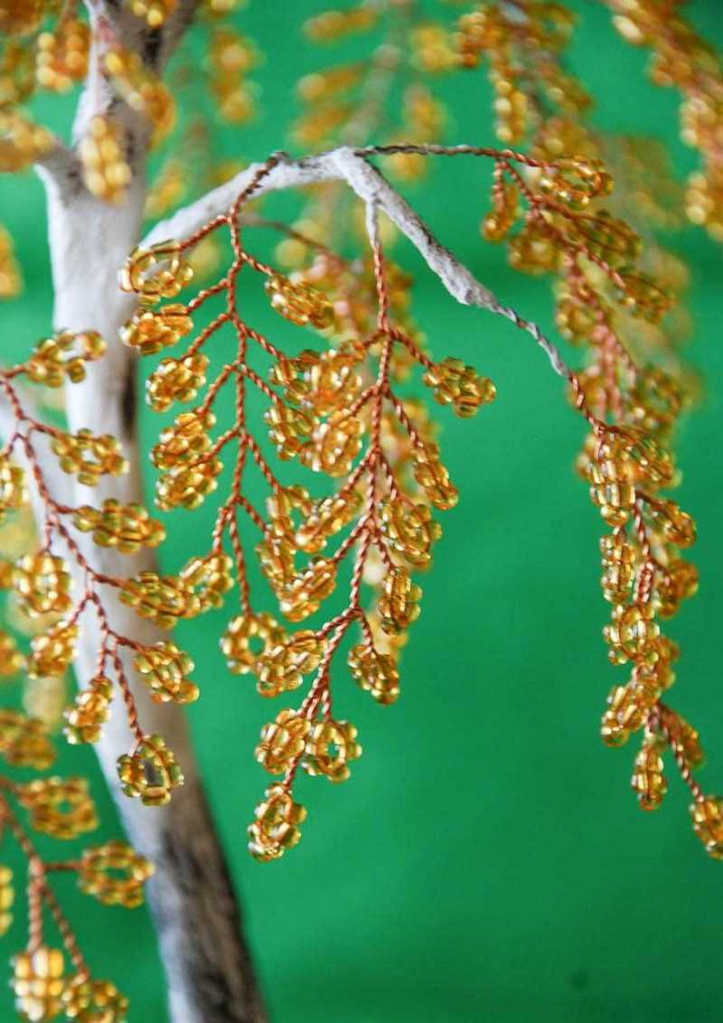 Береза из бисера: красивые и оригинальные изделия своими руками. Подробная технология плетения бисером в домашних условиях + фото готовых работ