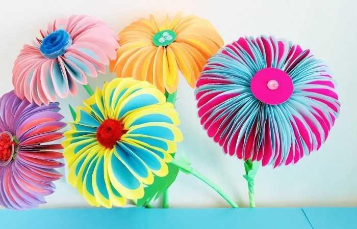 Цветы из бумаги своими руками: подробный мастер-класс с простыми схемами работы + фото-примеры для начинающих с интересными вариантами цветов