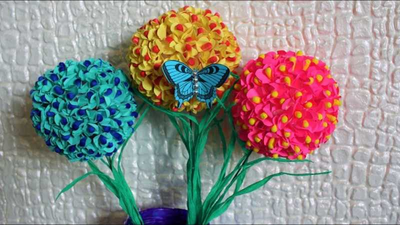 Цветы из ватных палочек: ТОП-110 фото лучших поделок из ватных палочек. Пошаговая инструкция по созданию поделок цветы своими руками для начинающих