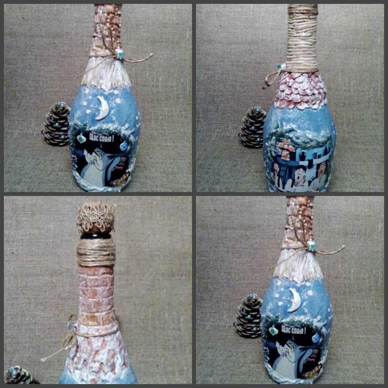 Декупаж бутылки 🍾: лучший мастер-класс по декупажу для начинающих. Основы техники, простые схемы + лучшие идеи с фото и видео