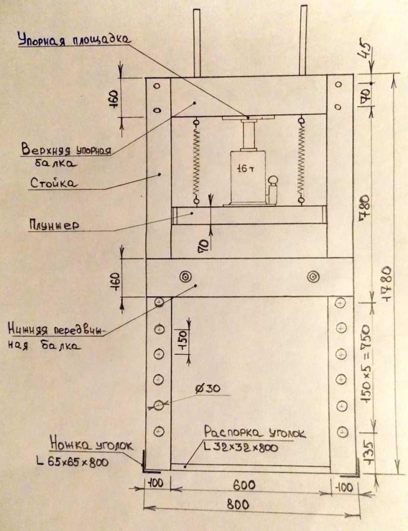 Гидравлический пресс своими руками: особенности применения и технологии. Простые схемы и чертежи для создания своими руками (170 фото)