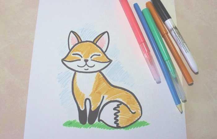 Как нарисовать лису — обзоры лучших способов создания рисунка. Нестандартные идеи и пошаговые инструкции рисования для начинающих