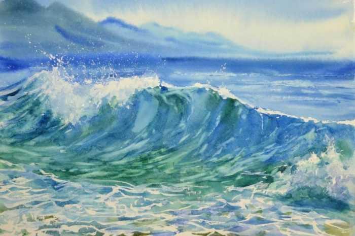 Море акварелью — инструкции по рисованию картин акварелью своими руками. Мастер-класс с описанием технологии + фото лучших работ