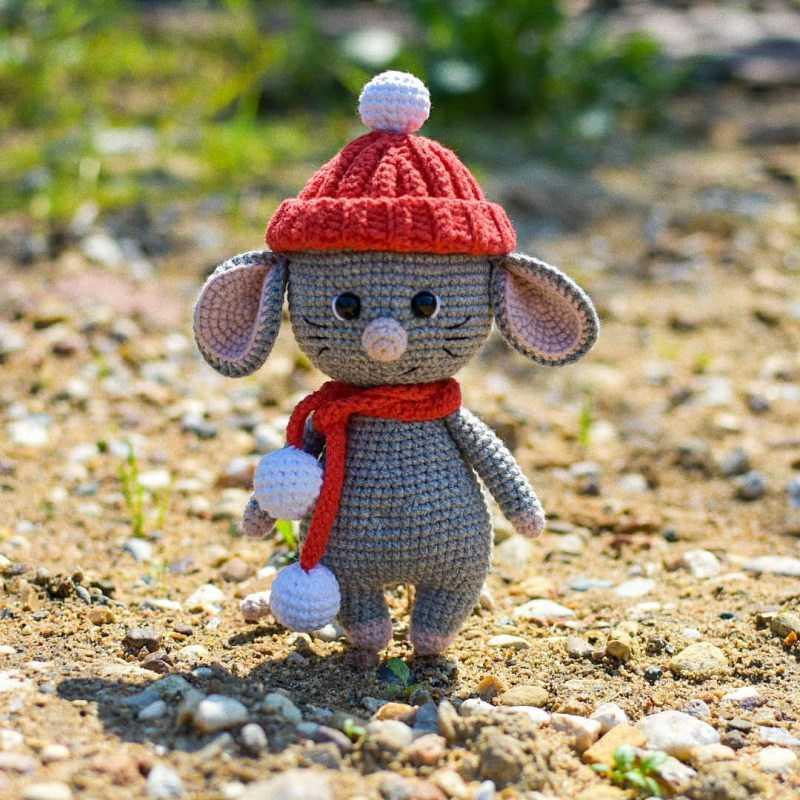 Мышка крючком 🐁 - ТОП-120 фото лучших вязаных изделий. Пошаговый мастер-класс по вязанию игрушки для начинающих с простыми схемами работы