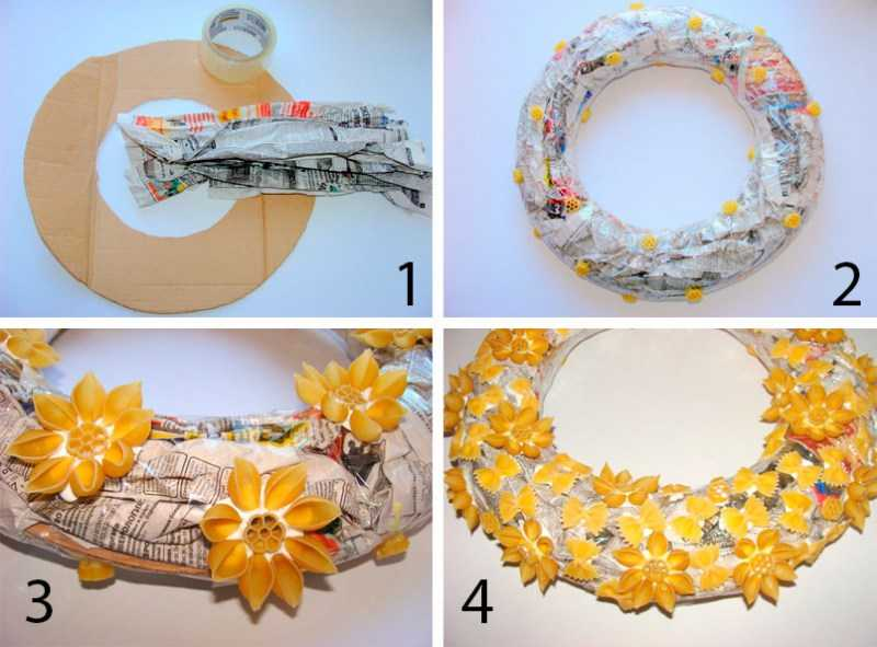 Поделки из макарон - фото креативных вариантов создания поделок из макарон в домашних условиях + схемы работы для начинающих