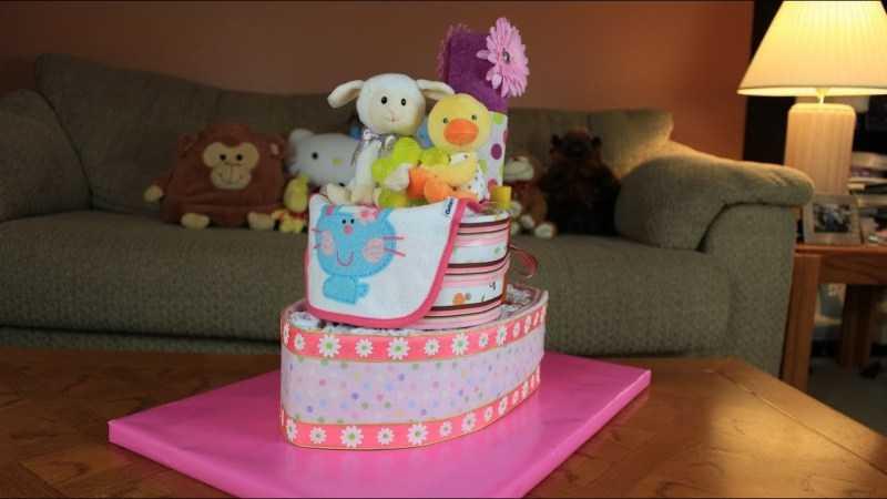 Торт из памперсов для девочки - 180 фото идей оригинальных тортов из памперсов + инструкция создания своими руками с примерами готовых изделий